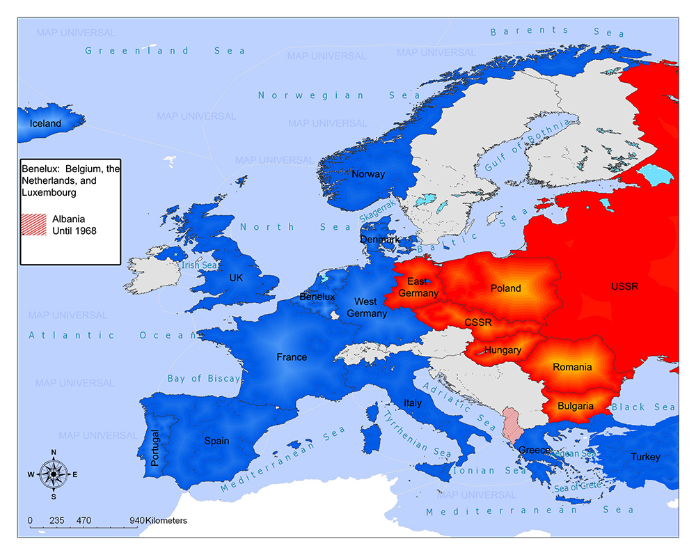 Warsaw Pact/Members, History, Map 5