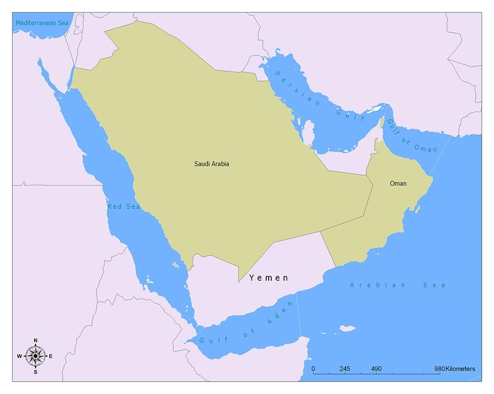 Yemen Flag Map and Meaning 2