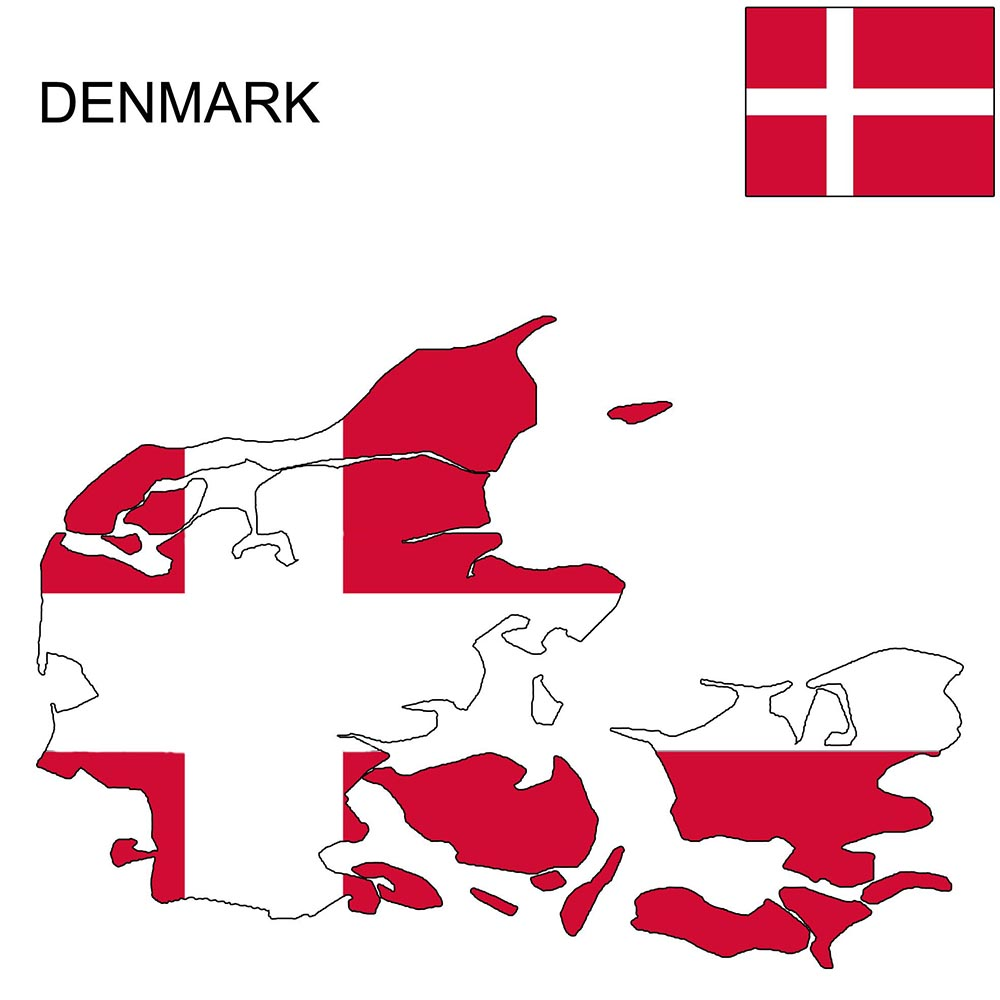 Denmark Flag Map and Meaning 1
