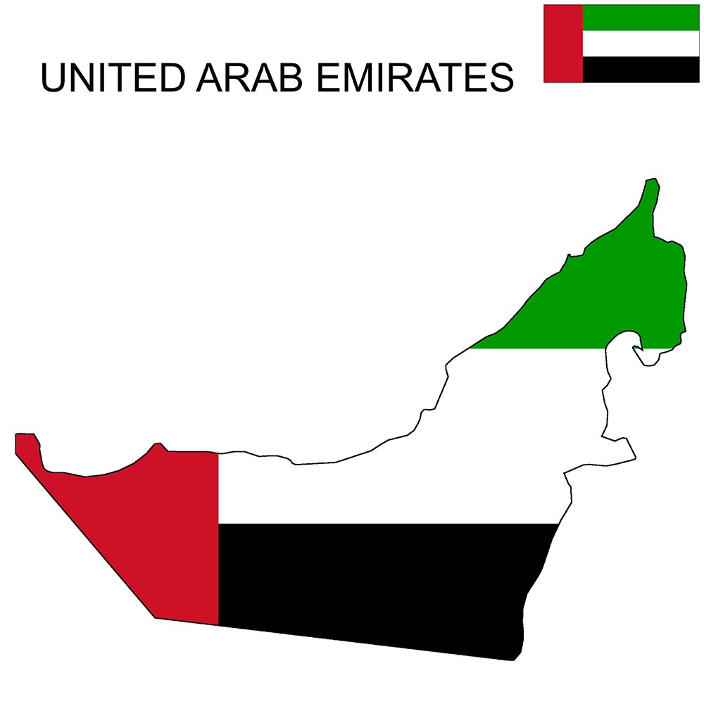 United Arab Emirates Flag Map and Meaning 1