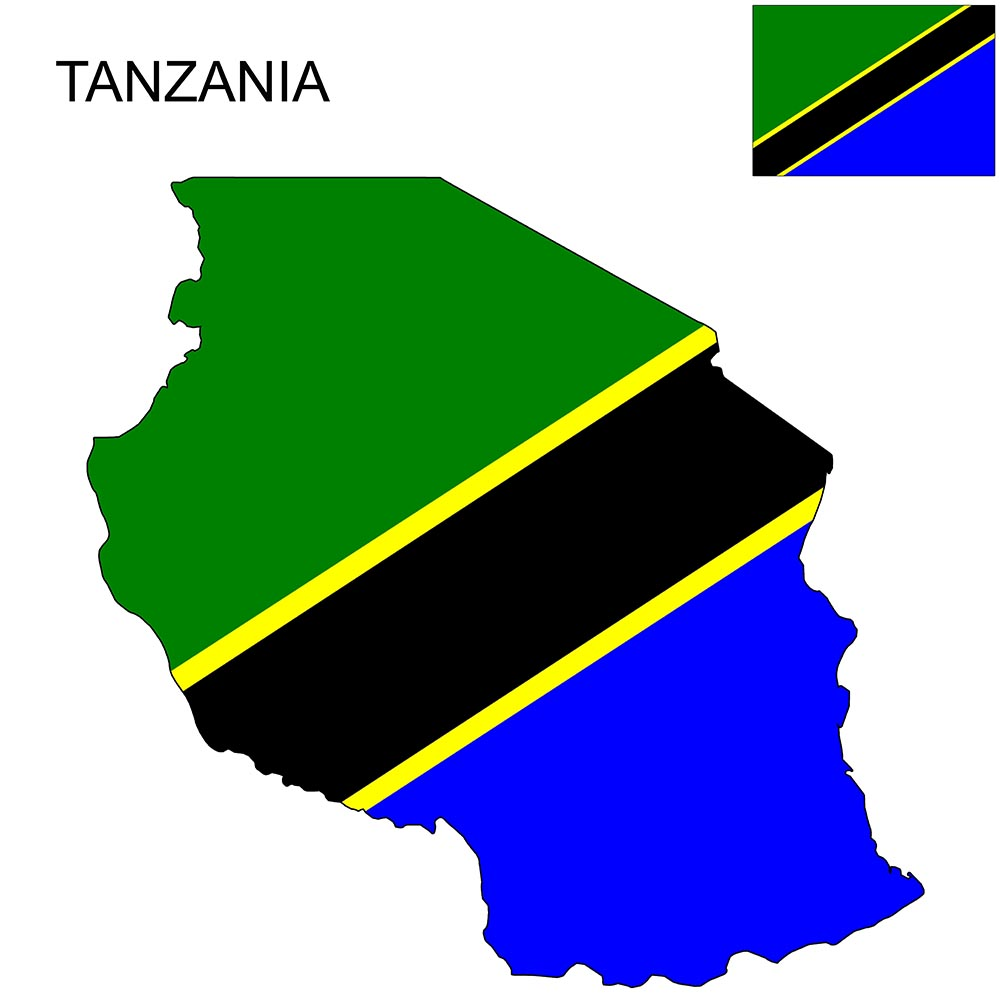 Tanzania Flag Map and Meaning 1