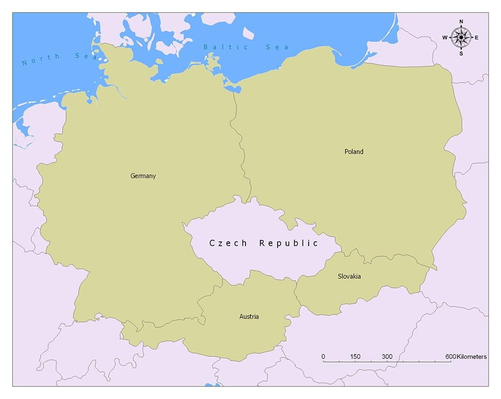 Czech Republic Flag Map and Meaning 2