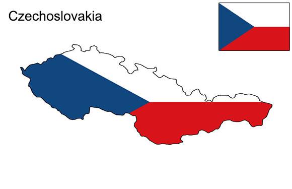 Czechoslovakia/Map of Czechoslovakia 4