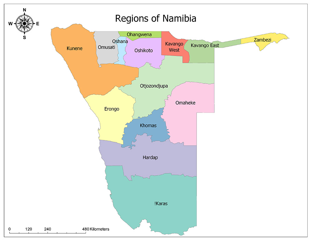 Regions of Namibia 1