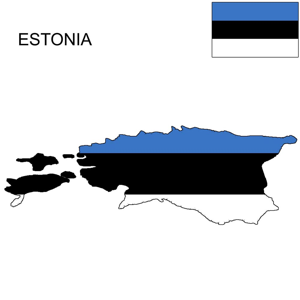 Estonia Flag Map and Meaning 1