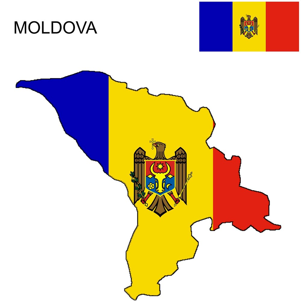 Moldova Flag Map and Meaning 1