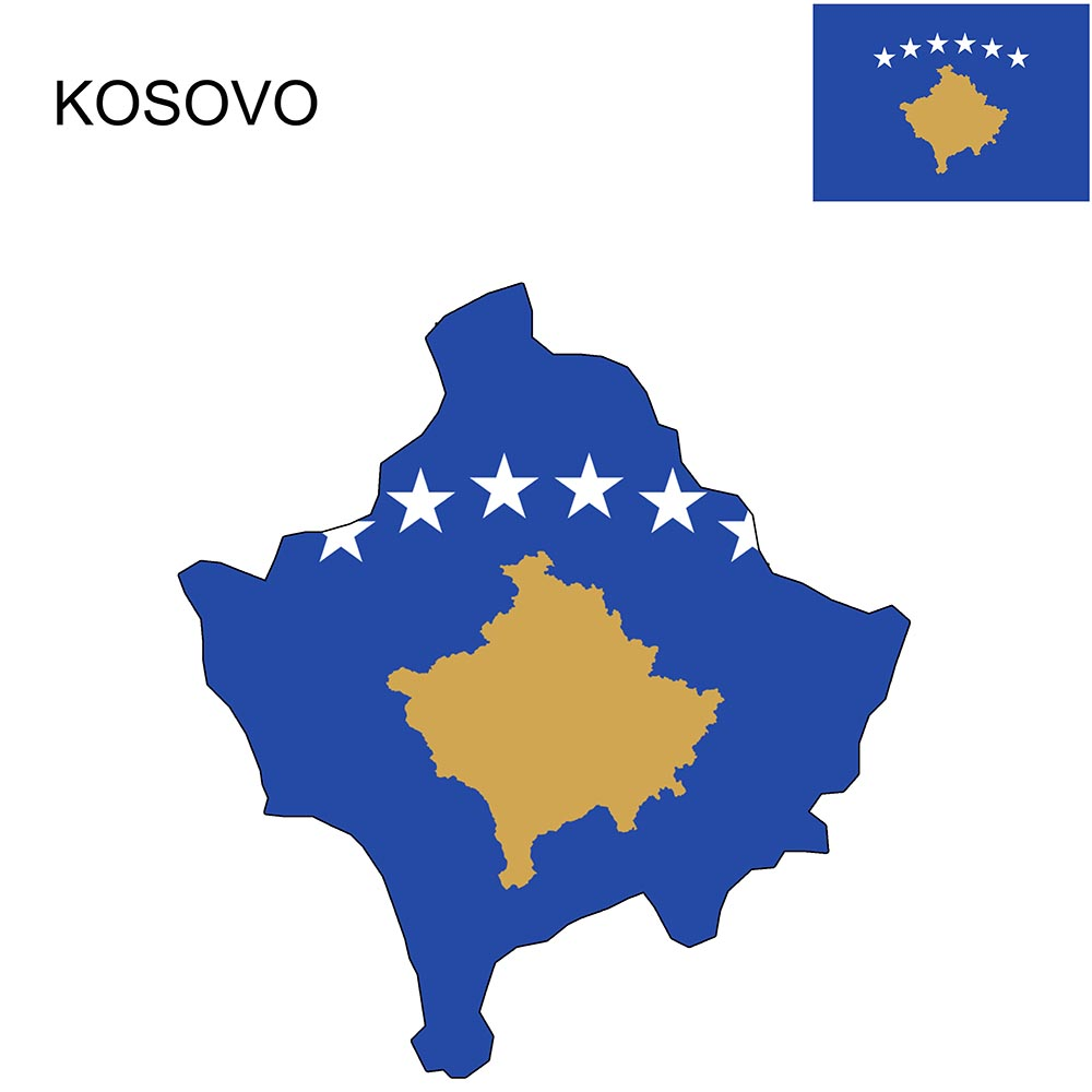 Kosovo Flag Map and Meaning 1