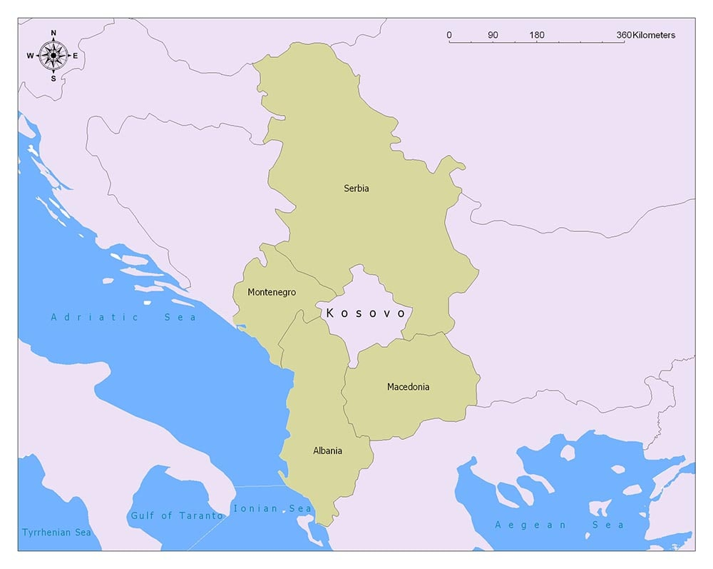 Kosovo Flag Map and Meaning 2