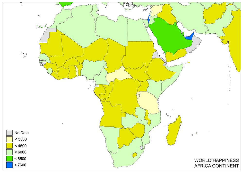 World's Happiness Map 2