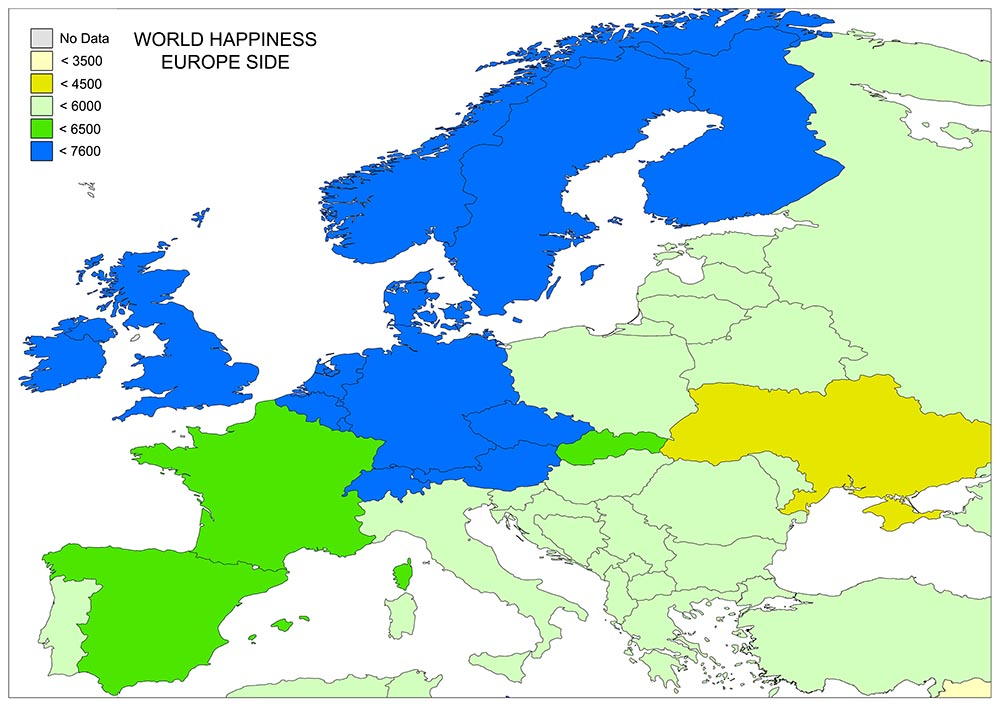 World's Happiness Map 4