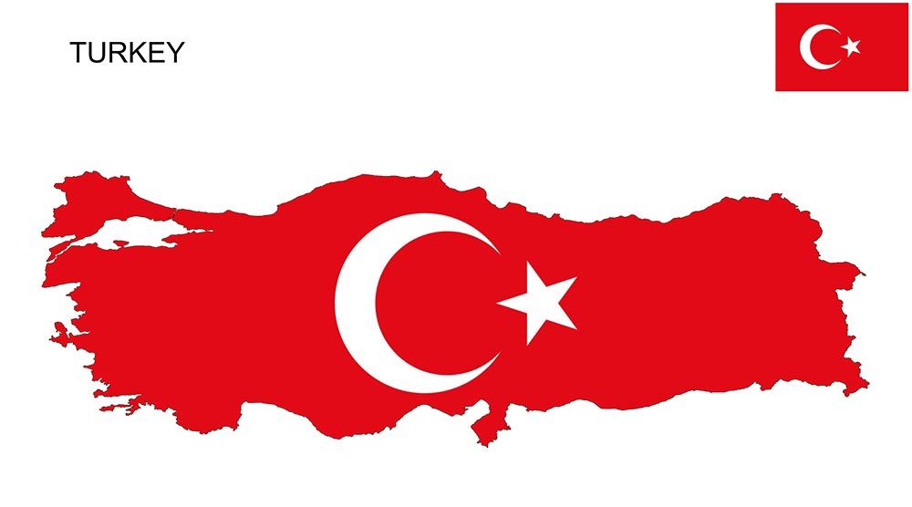 Turkey Flag Map and Meaning 1