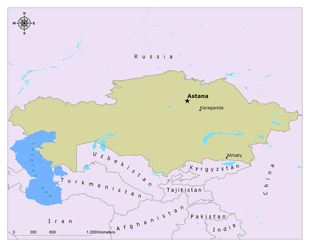 What is the Capital of Kazakhstan? 1