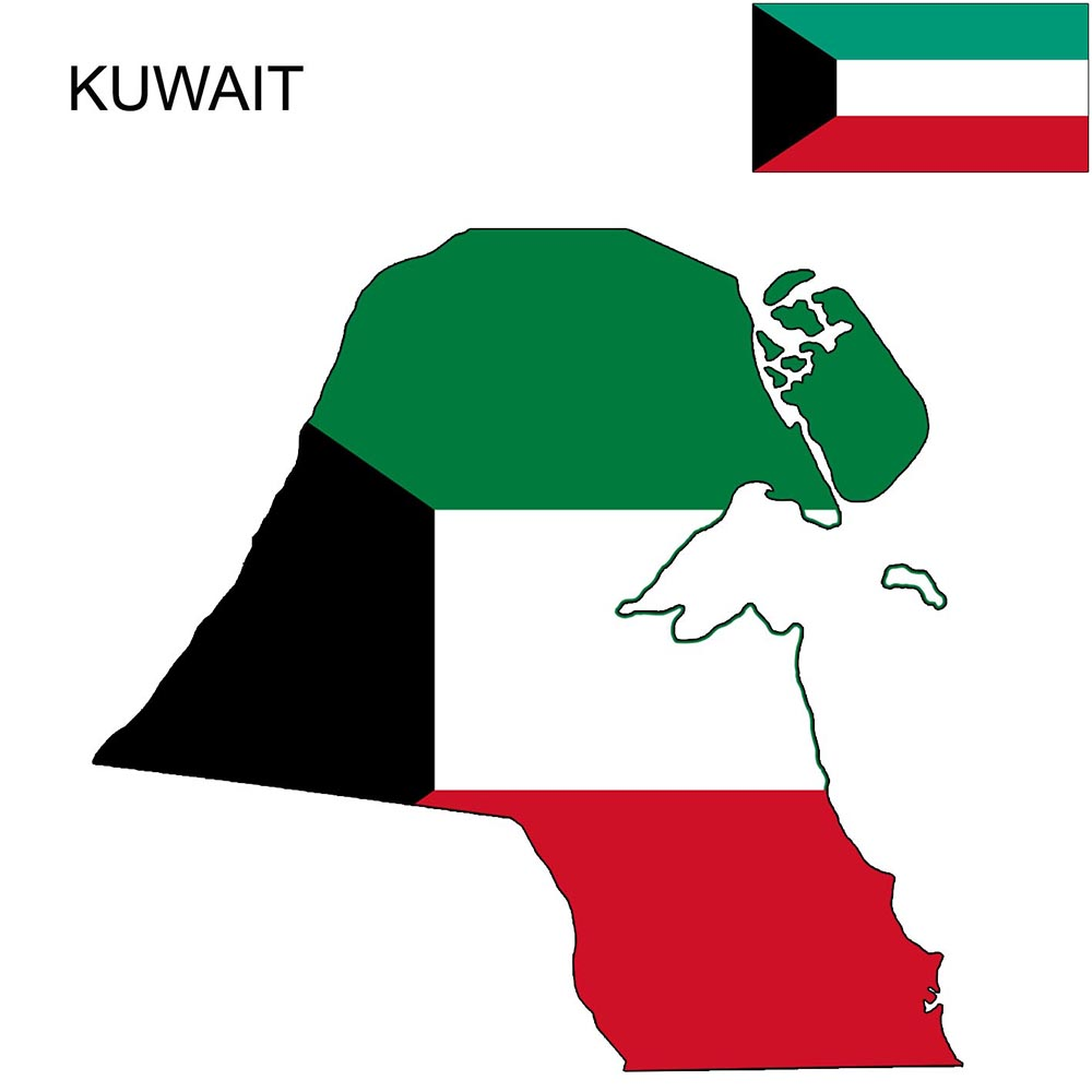 Kuwait Flag Map and Meaning 1