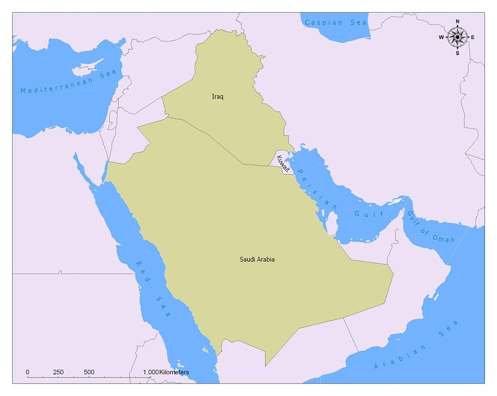 Kuwait Flag Map and Meaning 2