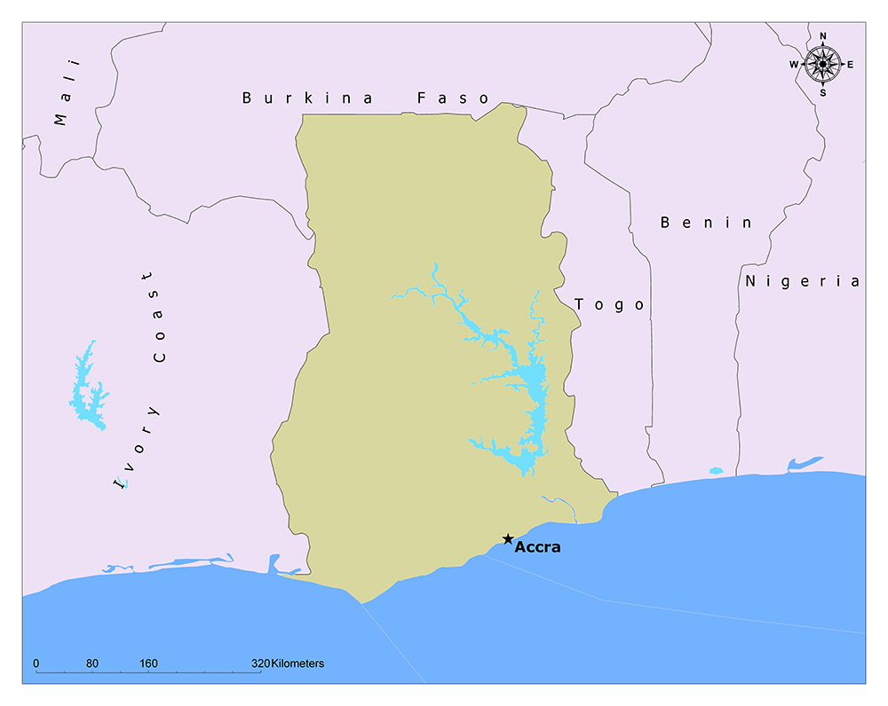 What is the Capital of Ghana? 1