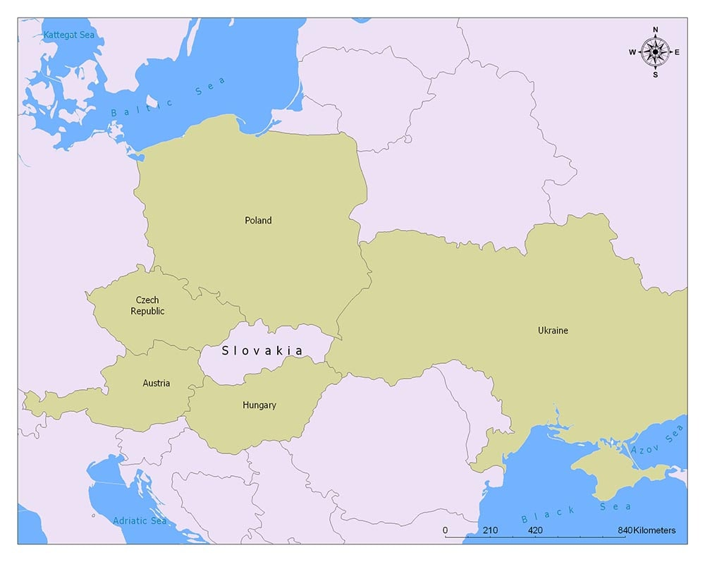 Slovakia Flag Map and Meaning 2