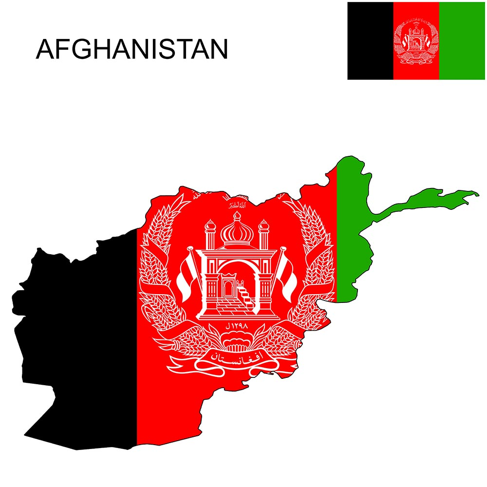 Afghanistan Flag Map and Meaning 1