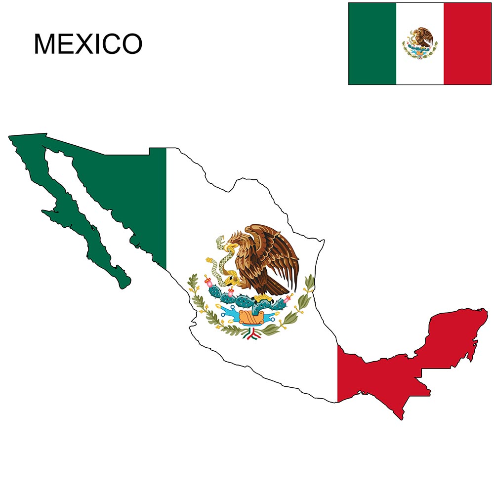 Mexico Flag Map and Meaning 1