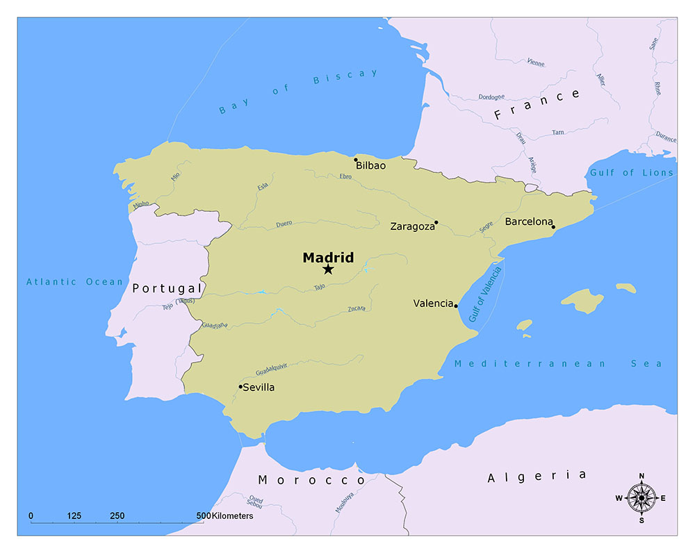 What is the Capital of Spain? 1