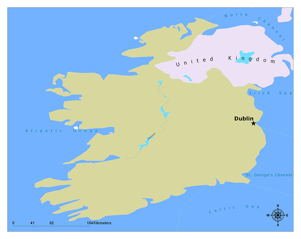 What is the Capital of Ireland? 1