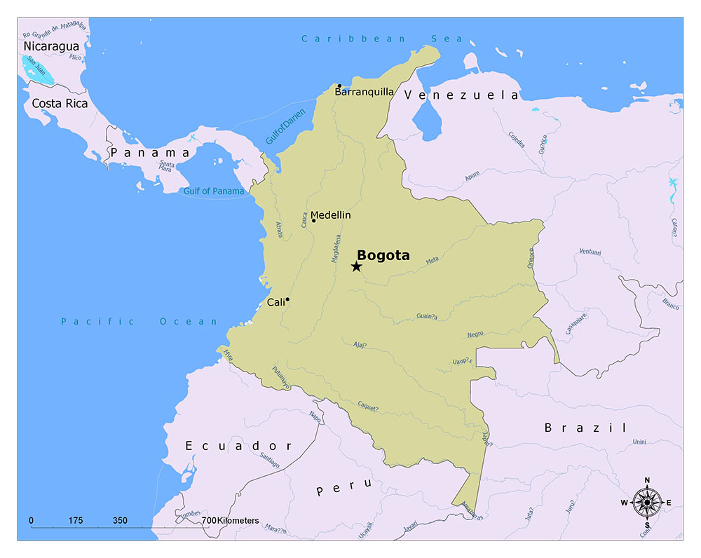 What is the Capital of Colombia? 1