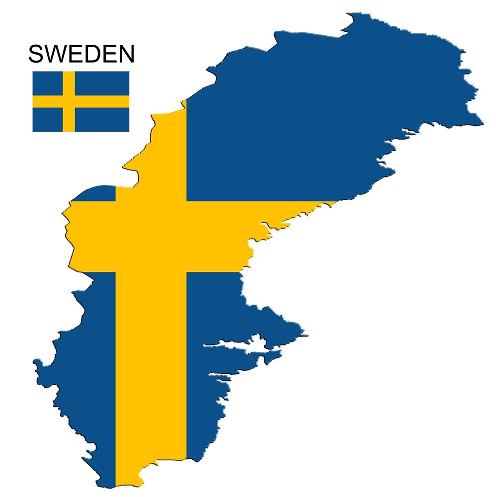 Sweden Flag Map and Meaning 1