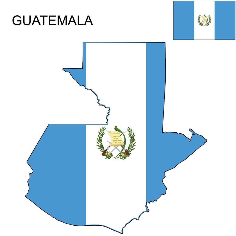Guatemala Flag Map and Meaning 1