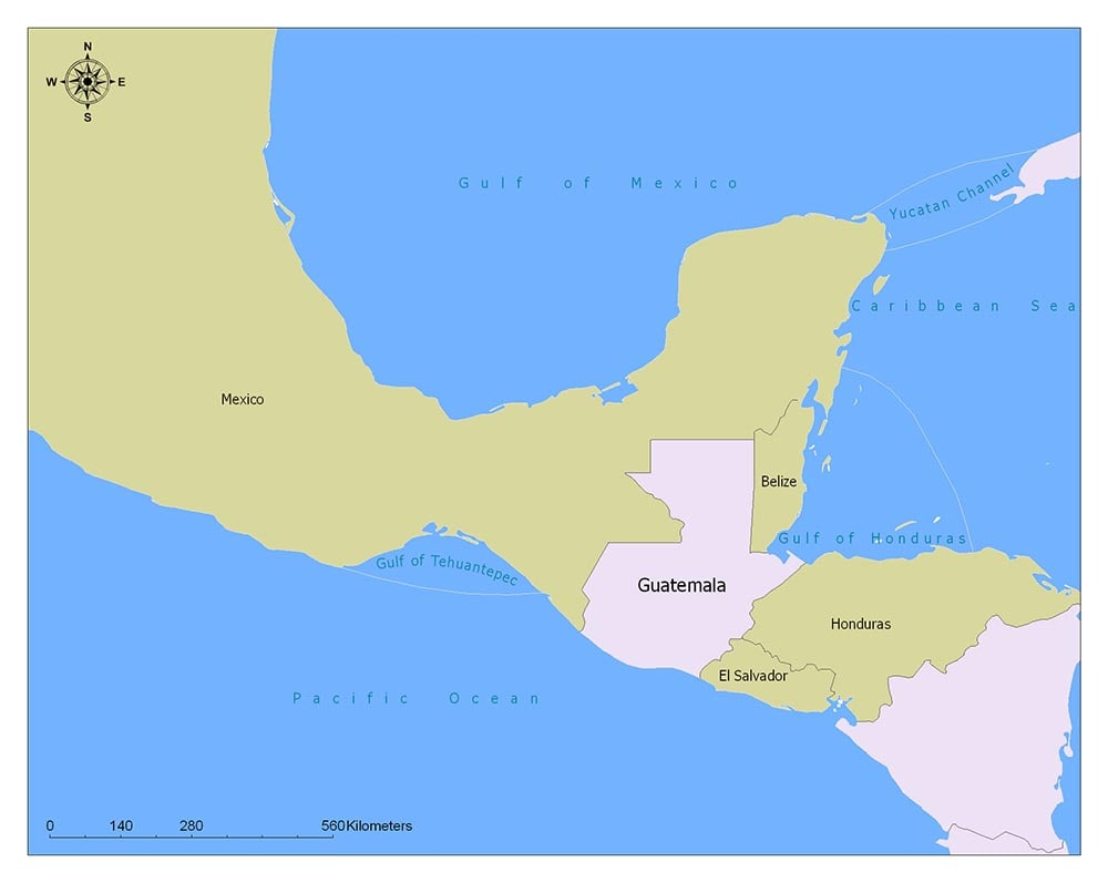 Guatemala Flag Map and Meaning 2