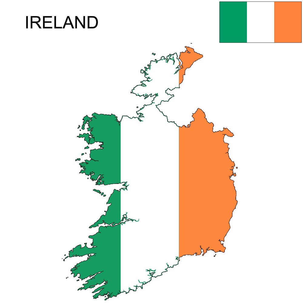 Ireland Flag Map and Meaning 1