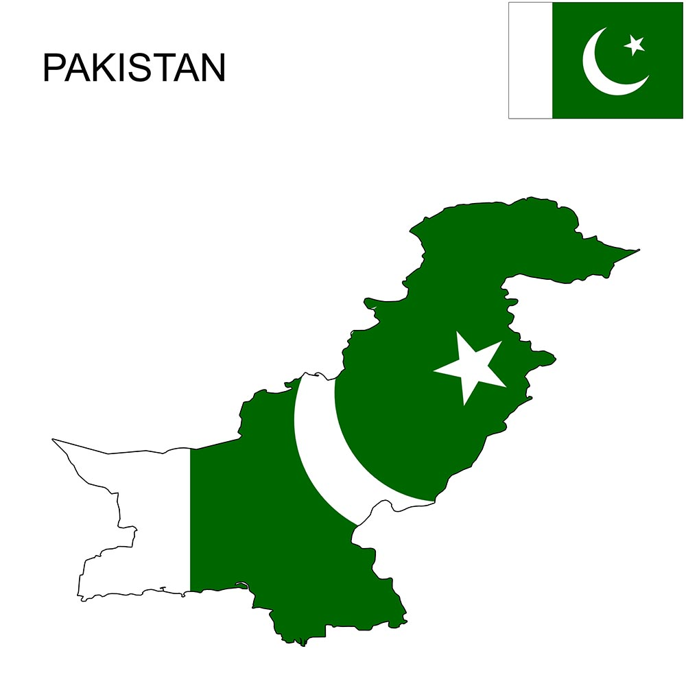 Pakistan Flag Map and Meaning 1