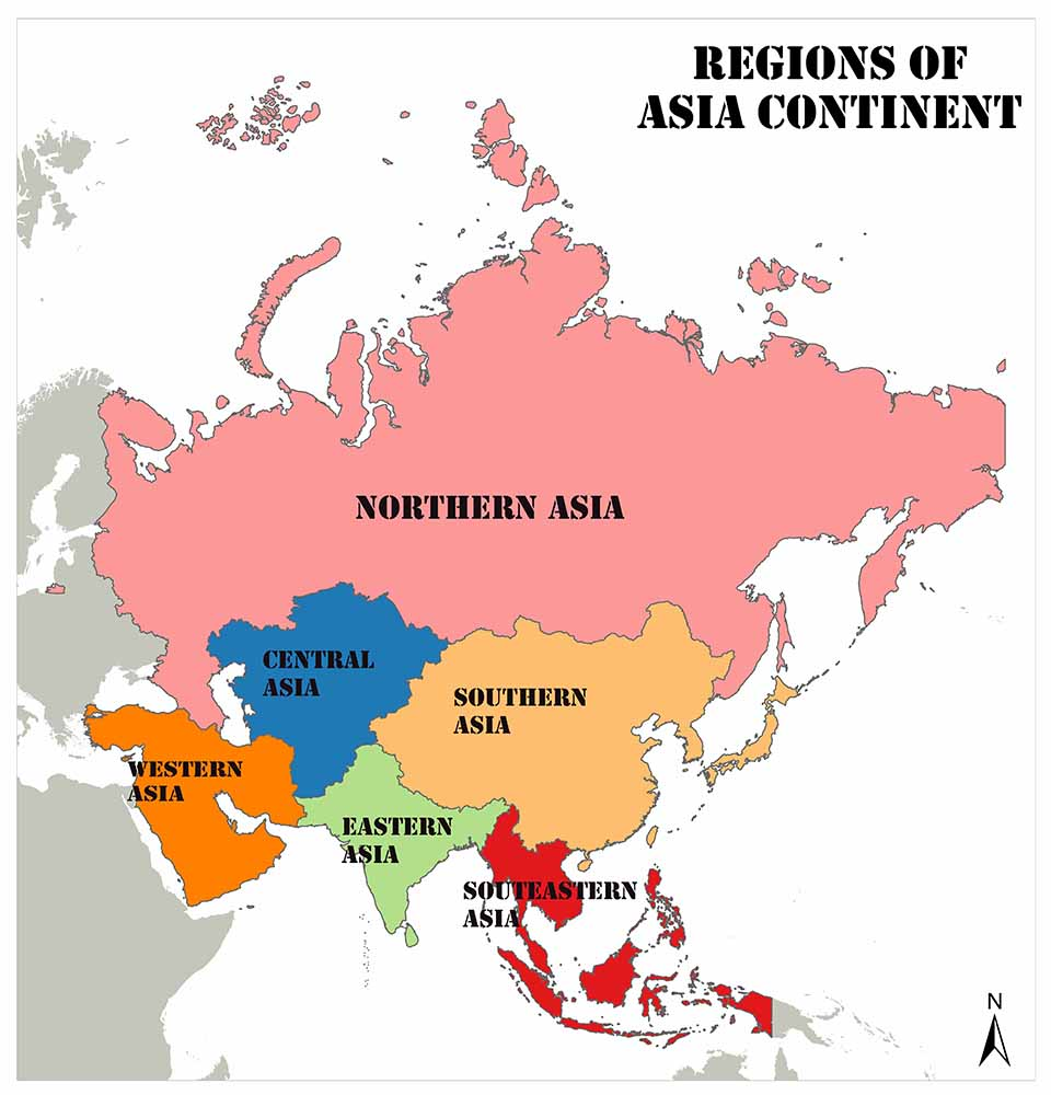 Regions of the Asian Continent