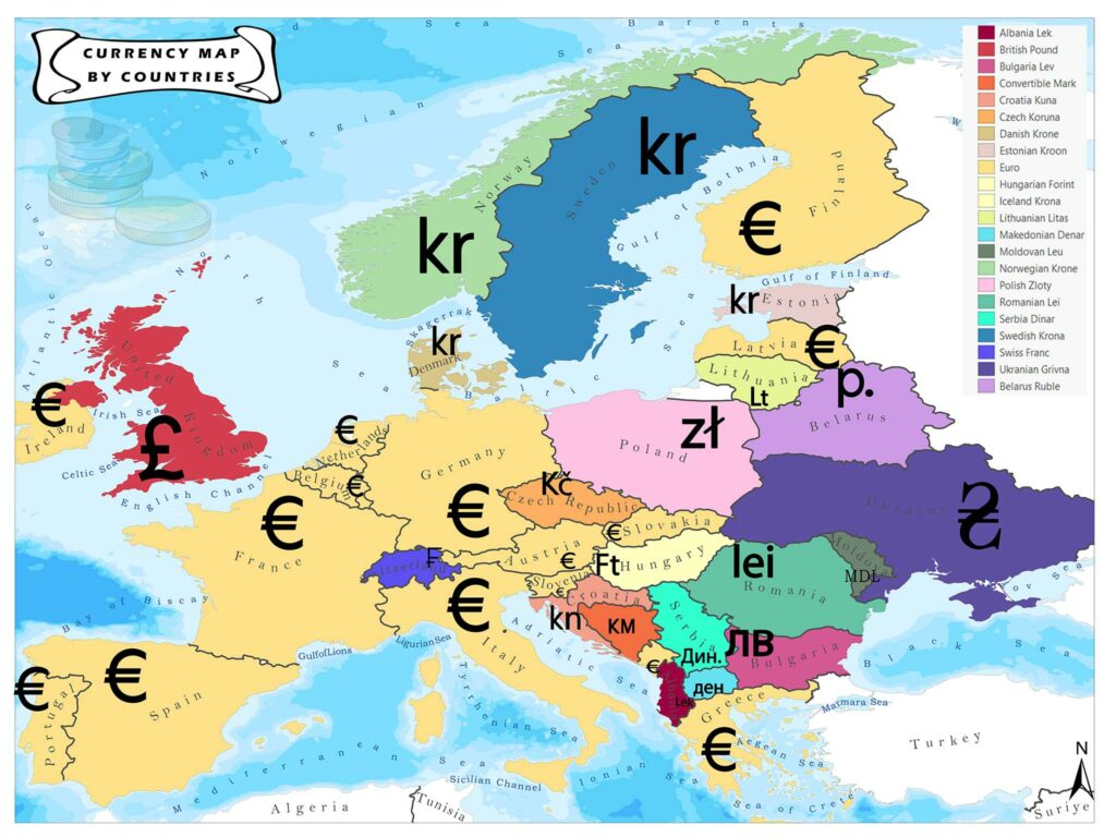 Currency Map by Countries 1