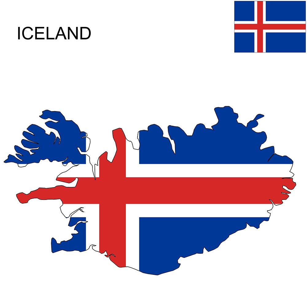 Iceland Flag Map and Meaning 1