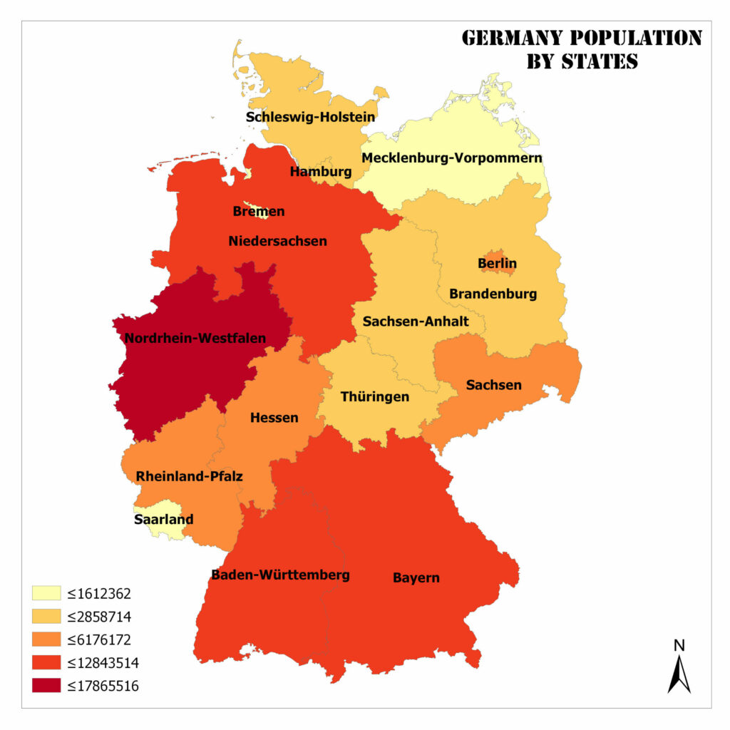 Germany Population by States 1