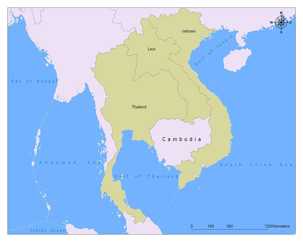 Cambodia Flag Map and Meaning 2