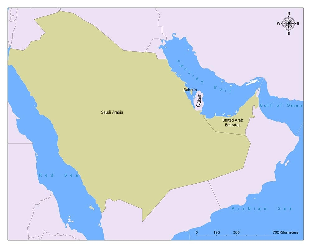 Qatar Flag Map and Meaning 2