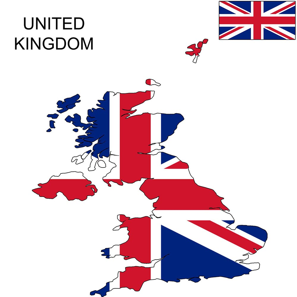 The United Kingdom Flag Map and Meaning 1