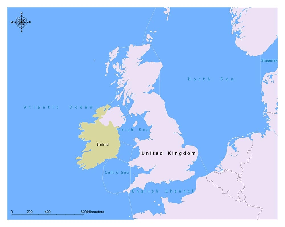 The United Kingdom Flag Map and Meaning 2