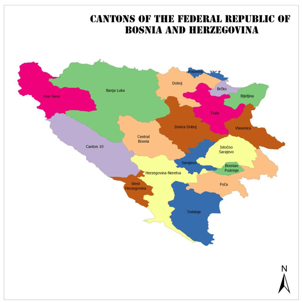 Cantons of the Federation of Bosnia and Herzegovina 1