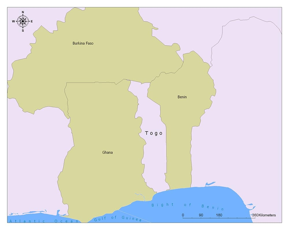 Togo Flag Map and Meaning 2