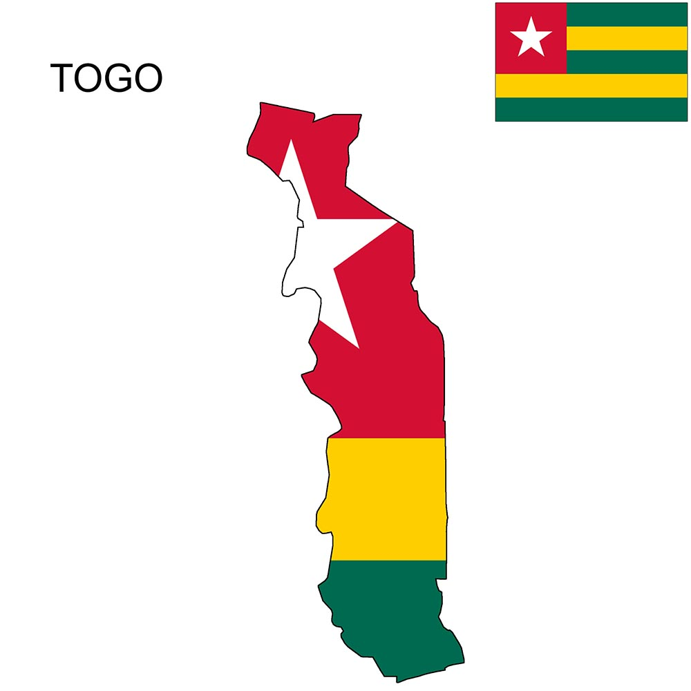 Togo Flag Map and Meaning 1