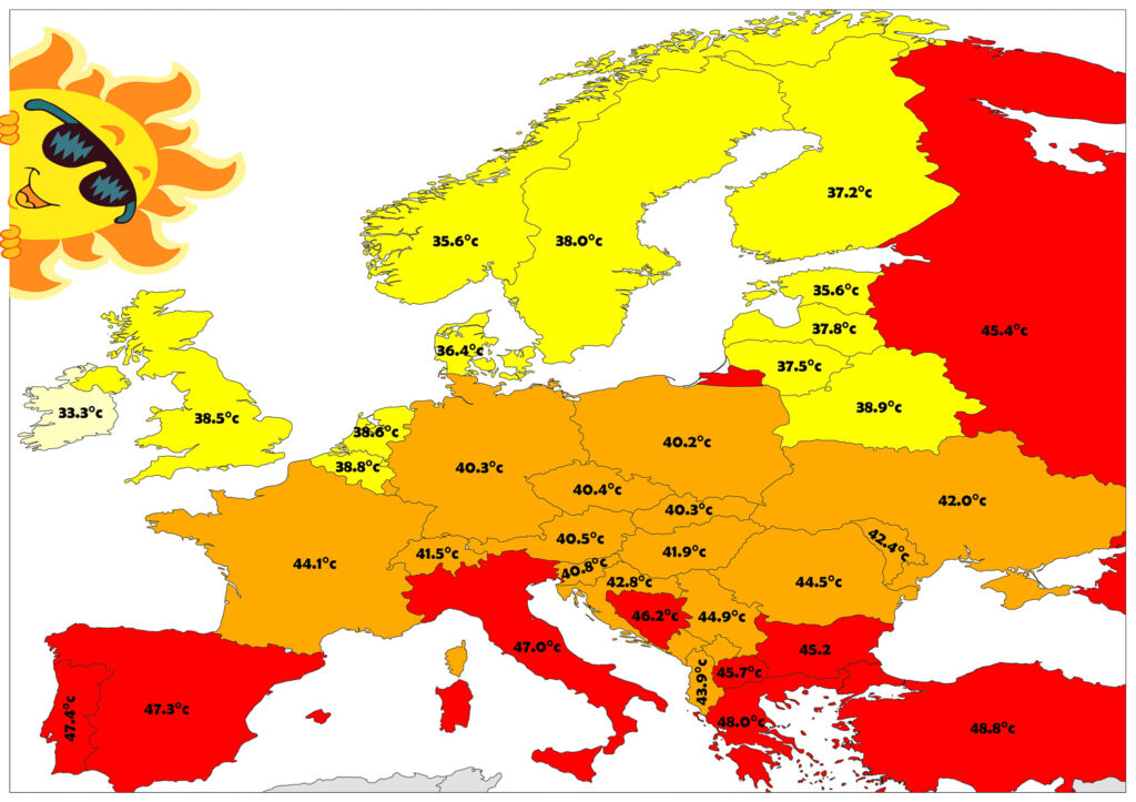 The Highest Temperatures Recorded in Europe 1
