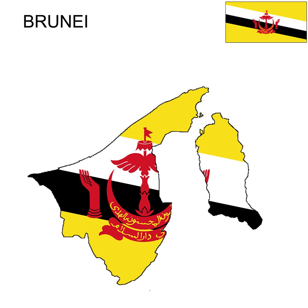 Brunei Flag Map and Meaning 1