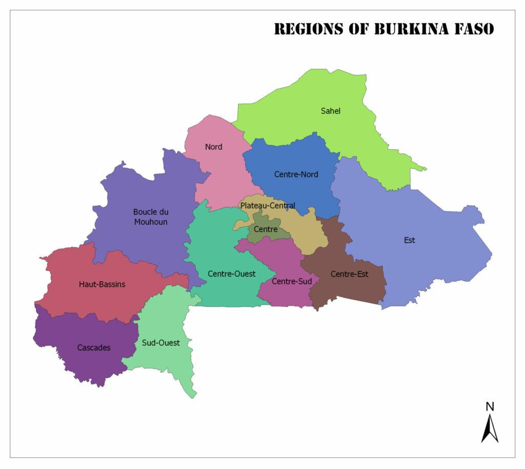 Regions of Burkina Faso 1