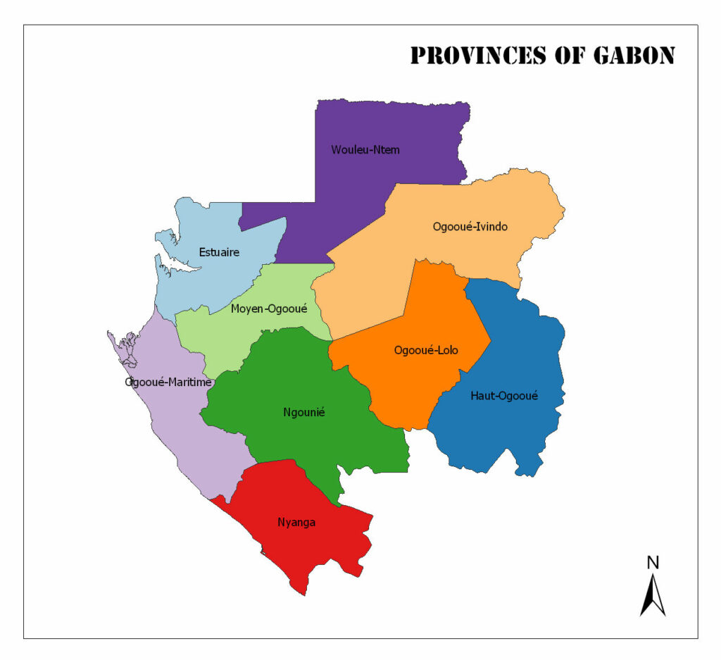 Provinces of Gabon 1