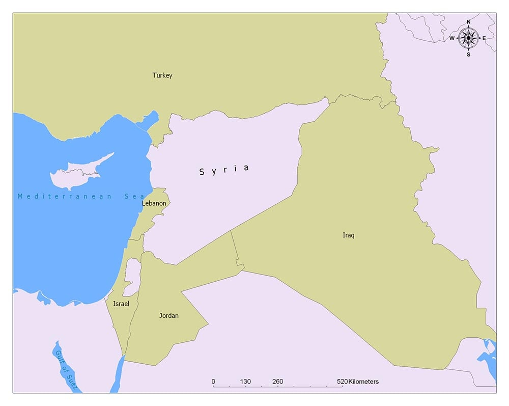 Syria Flag Map and Meaning 2