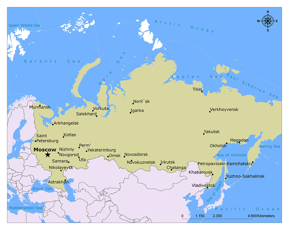 What is the Capital of Russia? 1