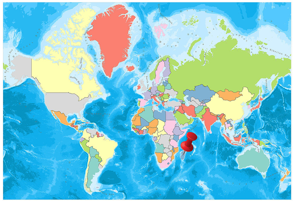 Madagascar Political Map 1