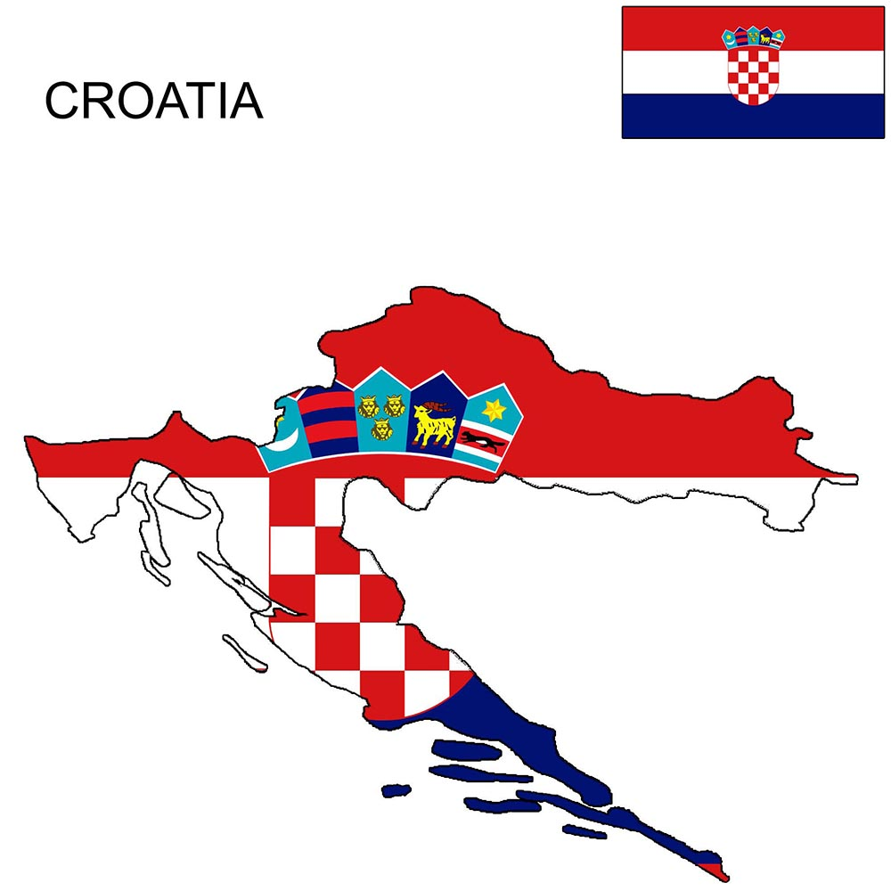 Croatia Flag Map and Meaning 1
