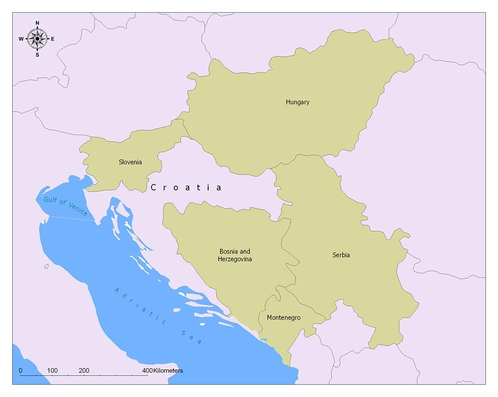 Croatia Flag Map and Meaning 2